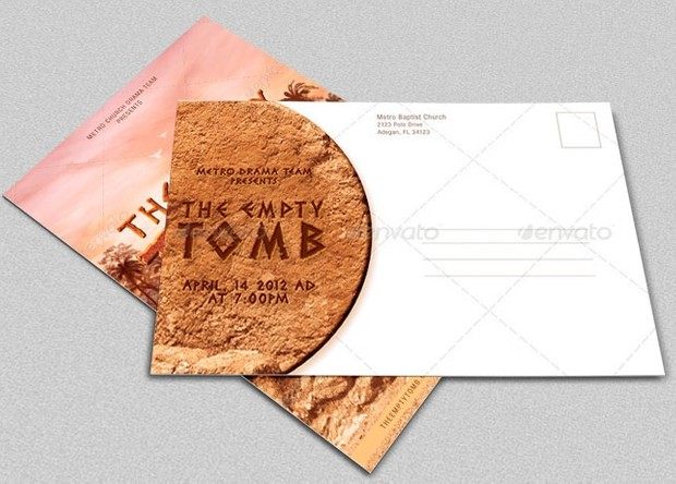 Empty Tomb Flyer and Postcard Template