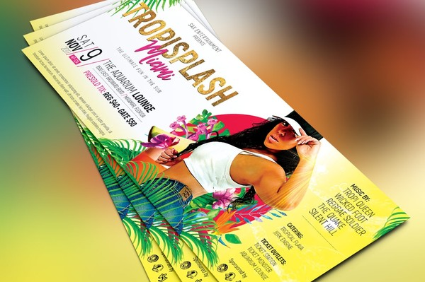Tropisplash Party Flyer Template