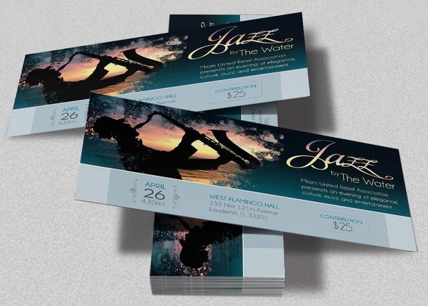 jazz concert event ticket template godserv designs