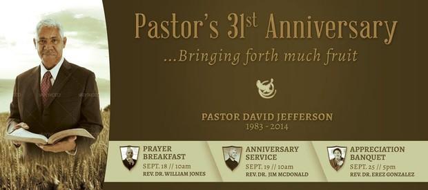Pastor Anniversary Banner Template - Harvest