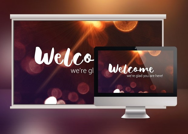 Bokeh Church Service Slides Template