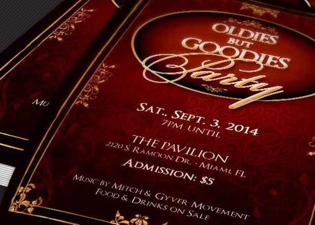Oldies But Goodies Party Flyer Template