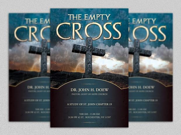 Empty Cross Flyer Template