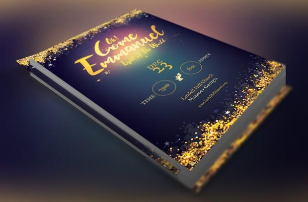 Emmanuel Christmas Cantata Flyer Template