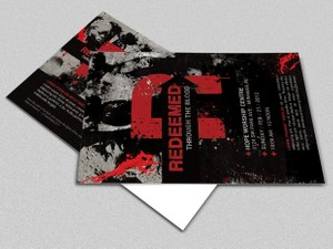 Redemption Church Postcard Template