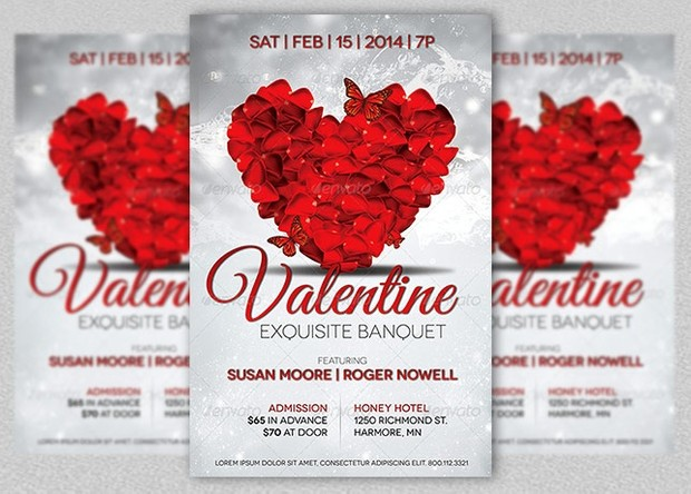 Valentines Banquet and Party Flyer