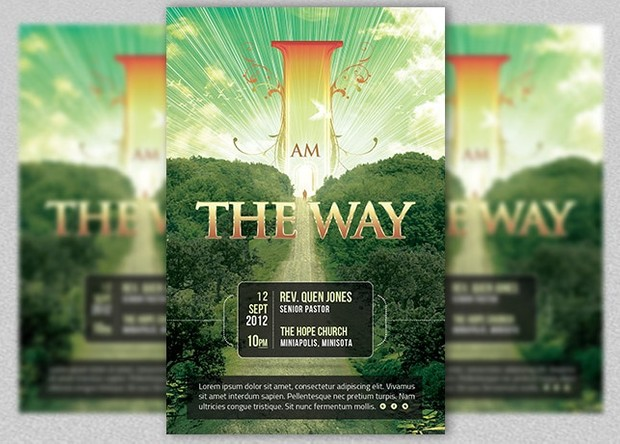 I Am The Way Church Flyer Template