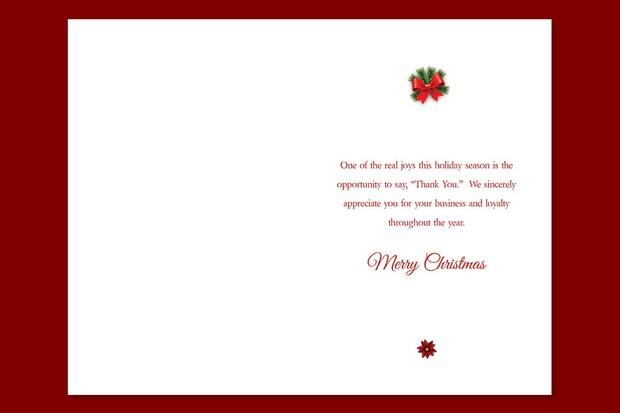 Ornament Christmas Card Template