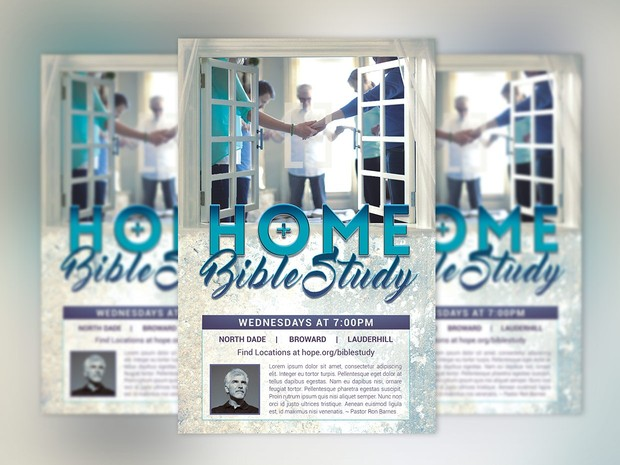 Bible Study Flyer Poster Template