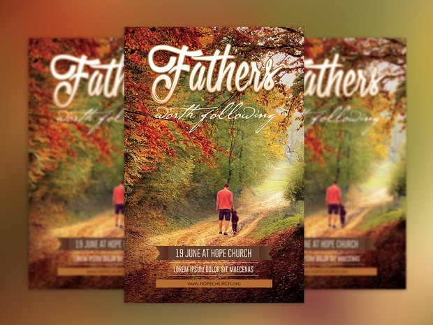Fathers Day Flyer and Poster Template