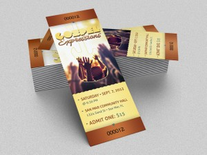 Gospel Concert Ticket Template
