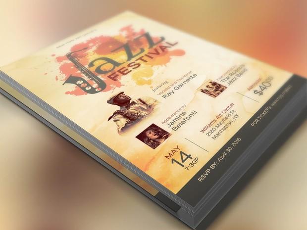 Jazz Concert Flyer Poster Template