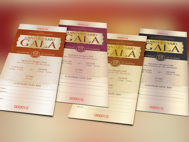 Anniversary Gala Ticket Template