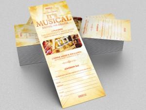Musical Concert Ticket Template