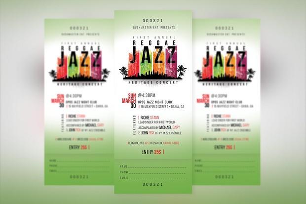 Reggae Jazz Ticket Template