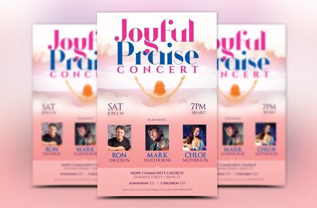 Praise Concert Church Flyer Template