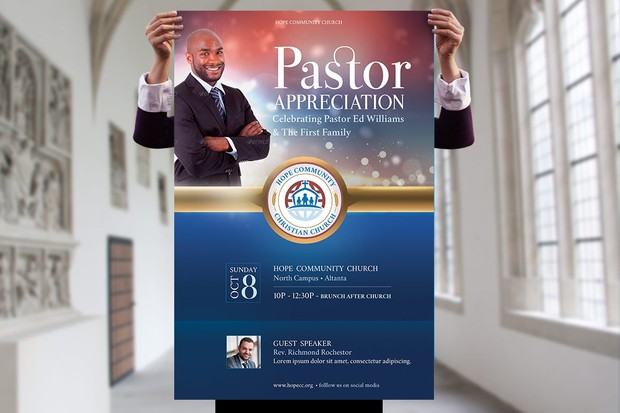 Hope Pastor Appreciation Flyer Poster Template