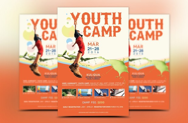 Youth Camp Flyer Template Godserv Designs