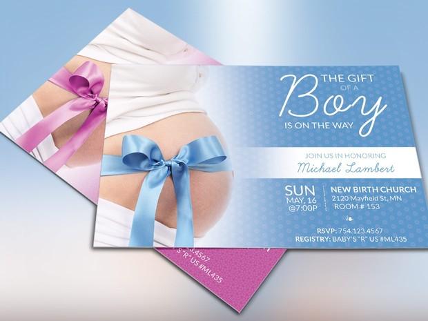 Baby Shower Invitation Template - Photoshop