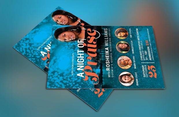 Worship Concert Church Flyer Template