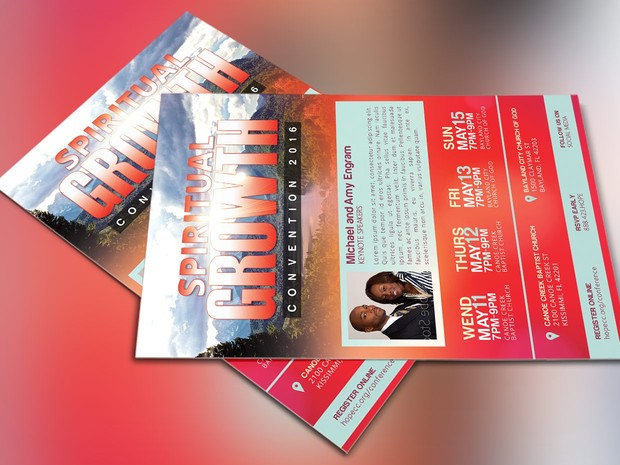 Church Convention Flyer Photoshop Template