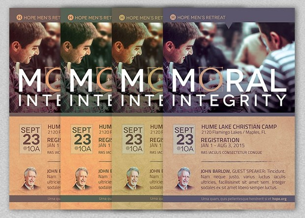 Moral Integrity Church Flyer Template