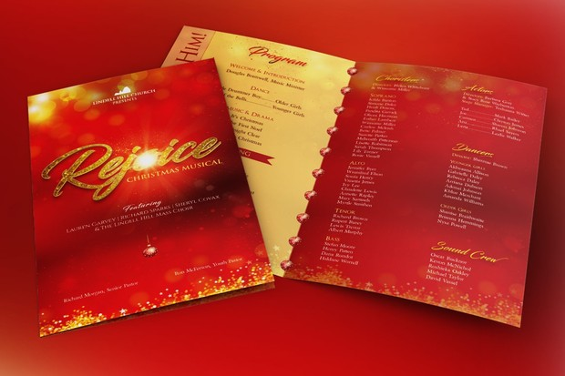 Rejoice Christmas Cantata Program Template