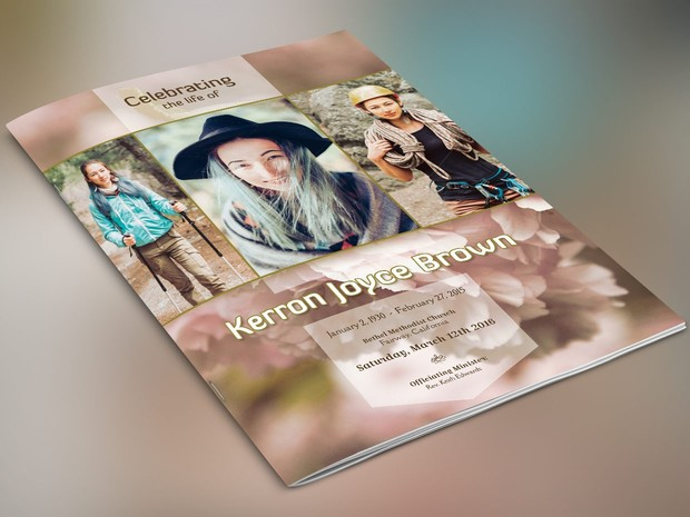 Adventure Large Funeral Program Template