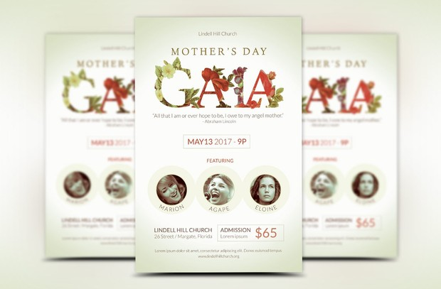 Mothers Day Gala Flyer Template