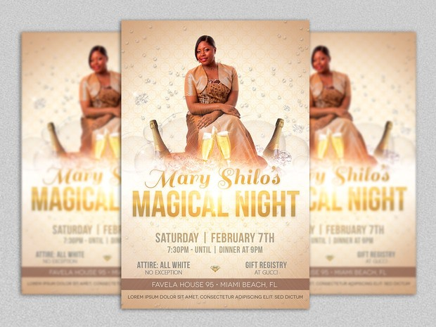 Magical Birthday Party Flyer Template