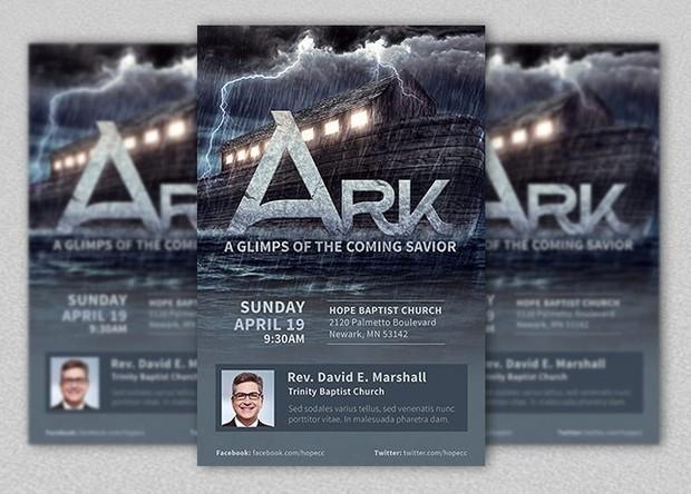 Ark Church Flyer Template