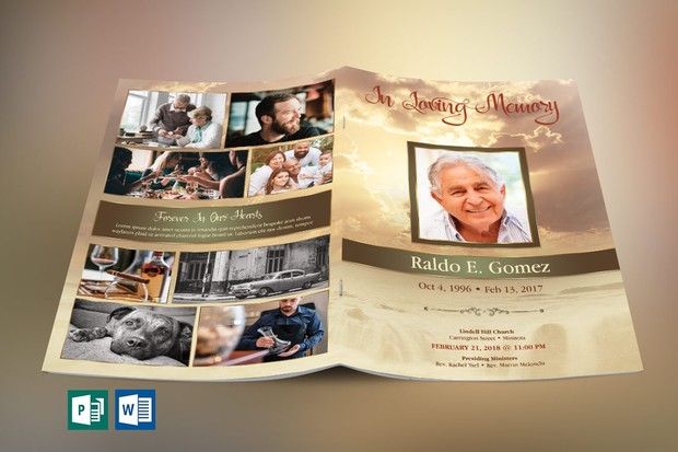Forever Funeral Program Publisher Word Template