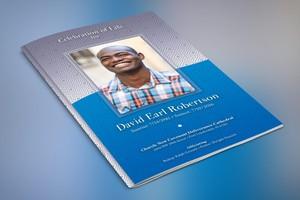 Blue Diamond Funeral Program Template