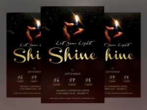 Shine Church Flyer Poster-Photoshop