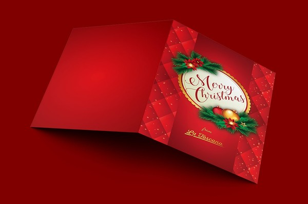Ornament Christmas Card Template