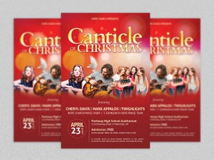 Christmas Concert Flyer and Poster Template