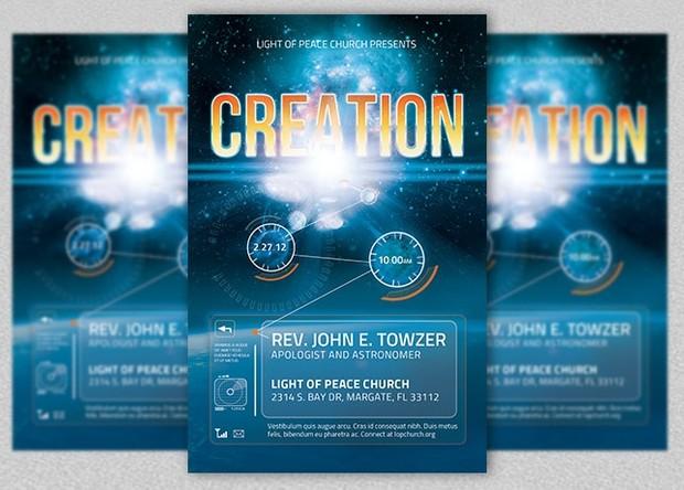 Creation Church Flyer Template