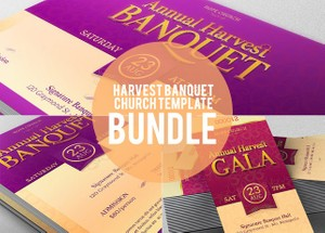 Harvest Banquet Church Template Bundle
