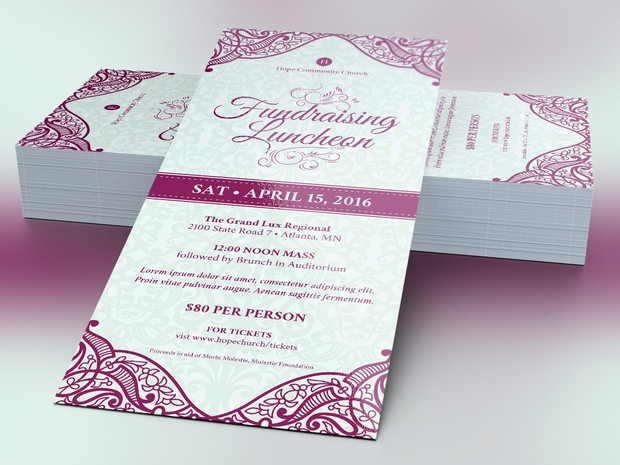Luncheon Flyer Photoshop Template