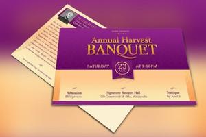 Church Gala Postcard Template