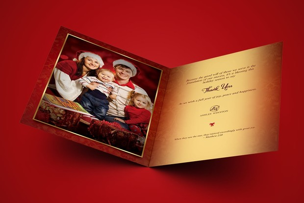 Happy Christmas Greeting Card Template