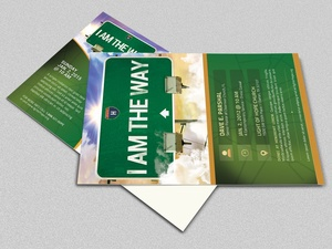 I Am The Way Church Postcard Template