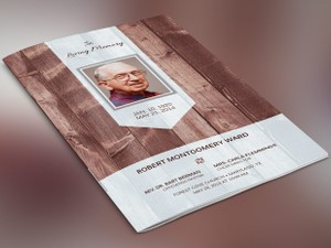 Scape Funeral Program Publisher Template