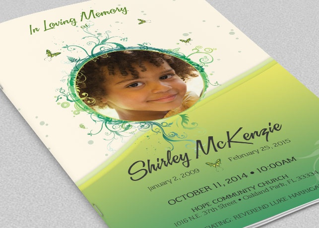 how to make a funeral program in photoshop