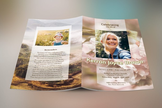 Adventure Small Funeral Program Template