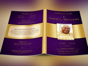 Regal Funeral Program Template Large