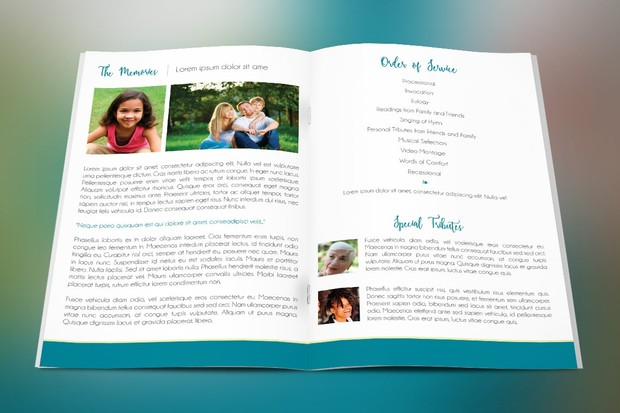 Memories Funeral Program Template
