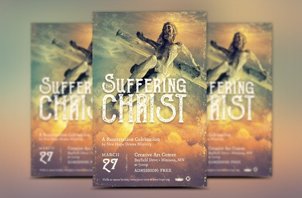 Christ Suffering Easter Flyer Template