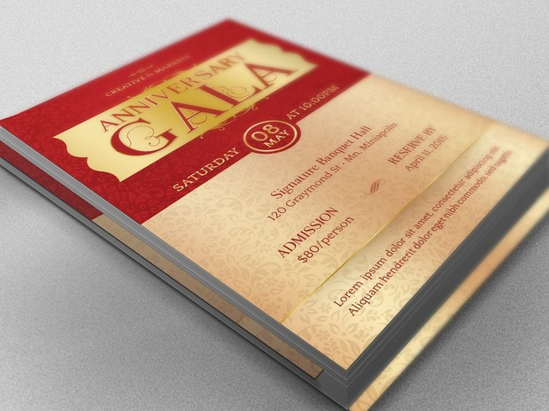 Anniversary Gala Flyer Template