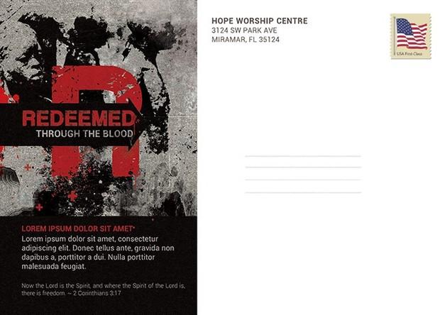 Redemption Church Postcard Template